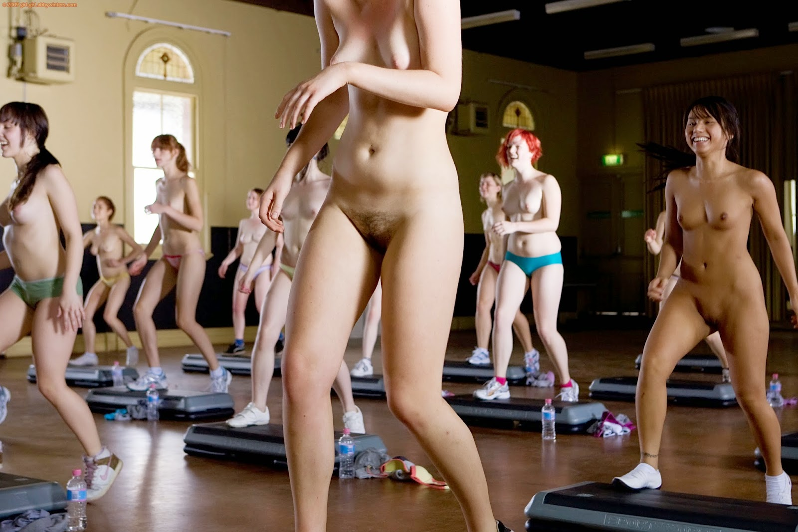 from Augustine naked girl step aerobics