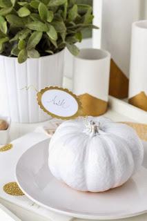 citrouille blanche pastel couleur doré peillettes bijoux