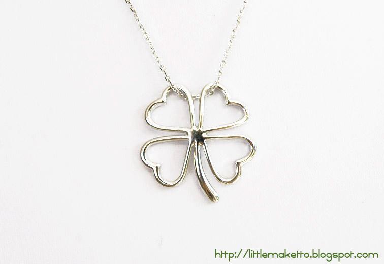 Silver shamrock necklace little maketto silver shamrock necklace audiocablefo