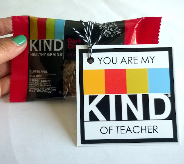 Kind bar label and treat