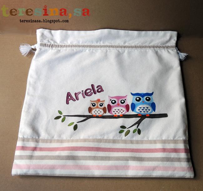 Bolsas para bebé pintadas a mano