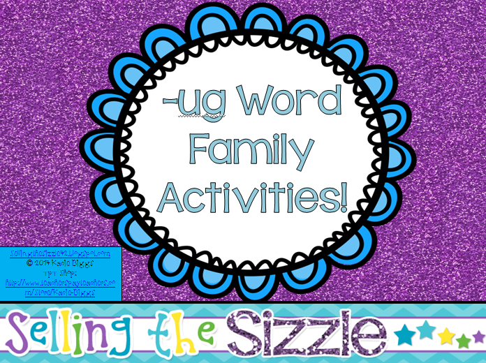 http://www.teacherspayteachers.com/Product/-ug-Word-Family-Activities-1256634
