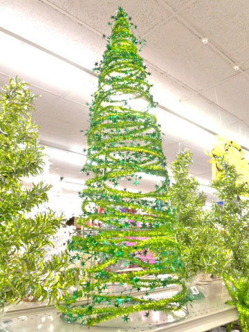 crankin out crafts episode 189 tinsel tree tomato cage - Tomato Cage Christmas Tree With Mesh