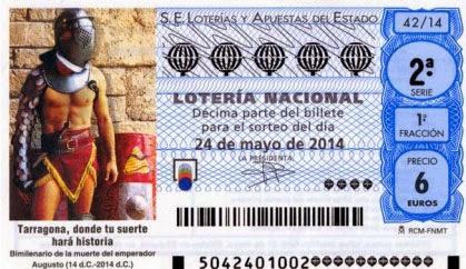 Décimos de la lotería nacional del sábado 24/05/2014