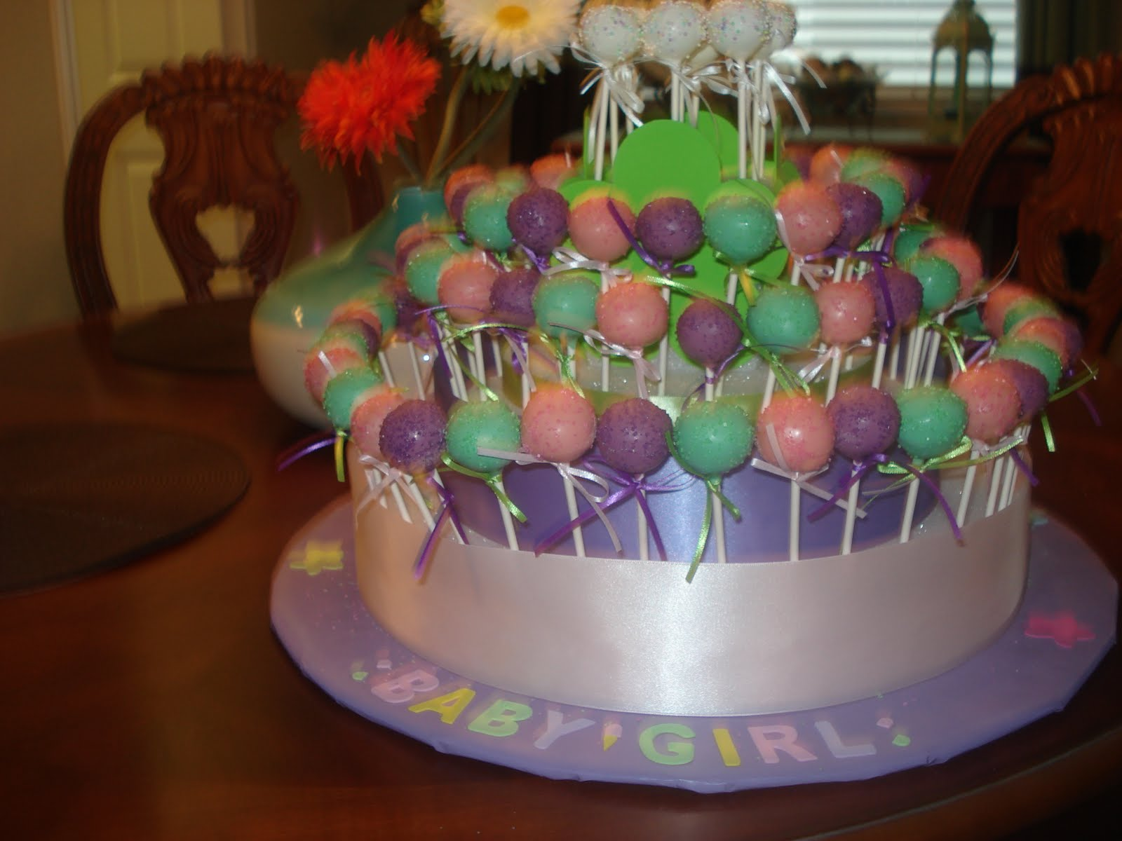 jessicakes project baby girl baby shower cake pop stand