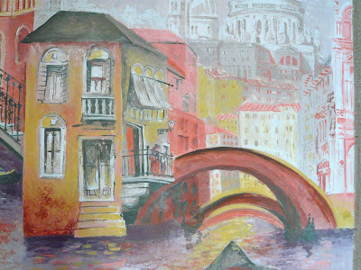 The Gondolier - Melissa's original artwork - detail