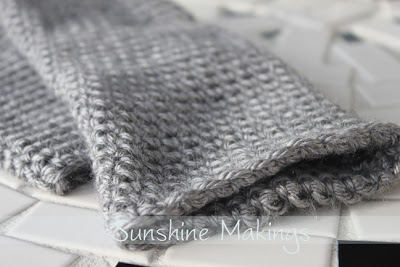 Grey Fingerless Gloves by Sunshine Makings