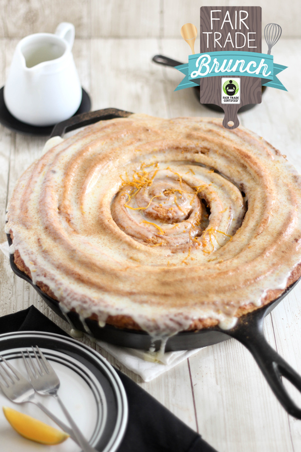 Giant Skillet Cinnamon Roll and a Fair Trade Giveaway!