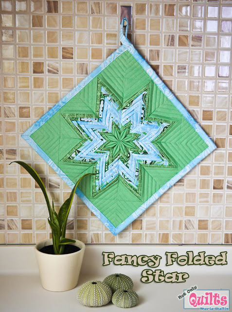 Folded Star Quilt Block http://freequiltpatterns.blogspot.com/2013/03/irish-eyes-smiles-chains-and-shamrocks.html
