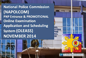 NAPOLCOM online application system (OLEASS) for November 2014 PNP Entrance, Promotional Exam