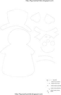 muñeco de nieve navidad decoracion y manualidades
