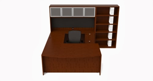 Cherryman Jade Collection U Desk Configuration