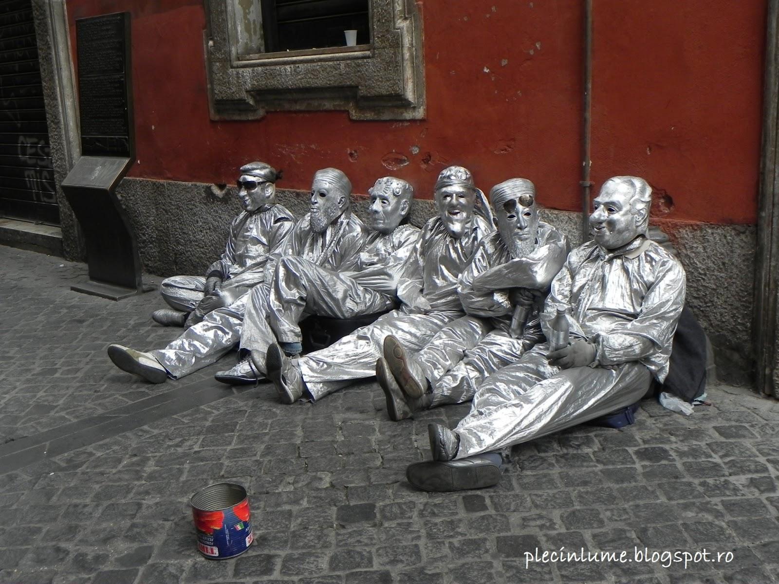Statui umane in Roma