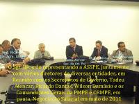 Negociações Salariais com o Governo em 2011, em pauta Subsídio e Isonomia Salarial com a Pol.Civil