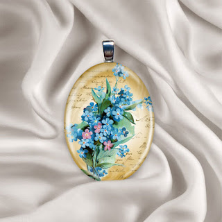 png template for glass photo pendant on silk background