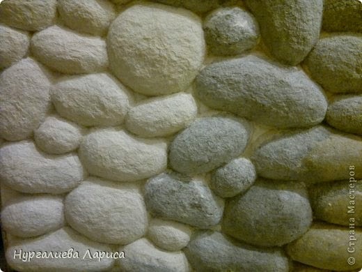 "Декор стены ""камнями"""