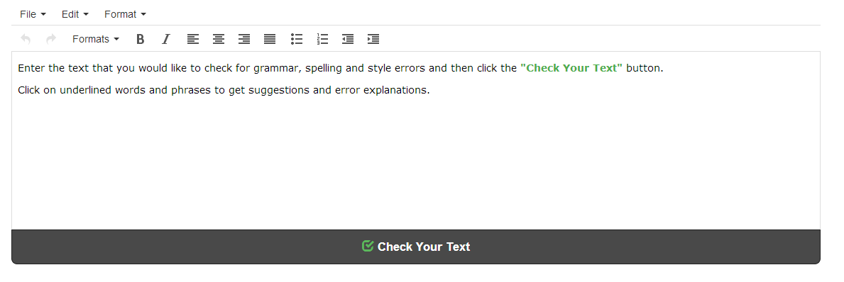 punctuation checker and google grammar check