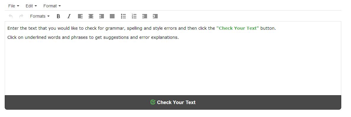 Grammar correction online