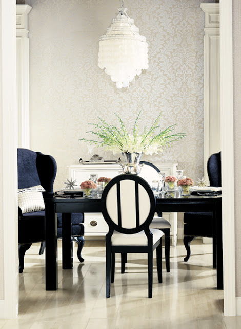 Antique Homes and Lifestyle: Wallpaper Wednesday - Candice ...