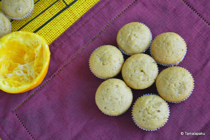 Eggless Orange Pistachio Cupcake