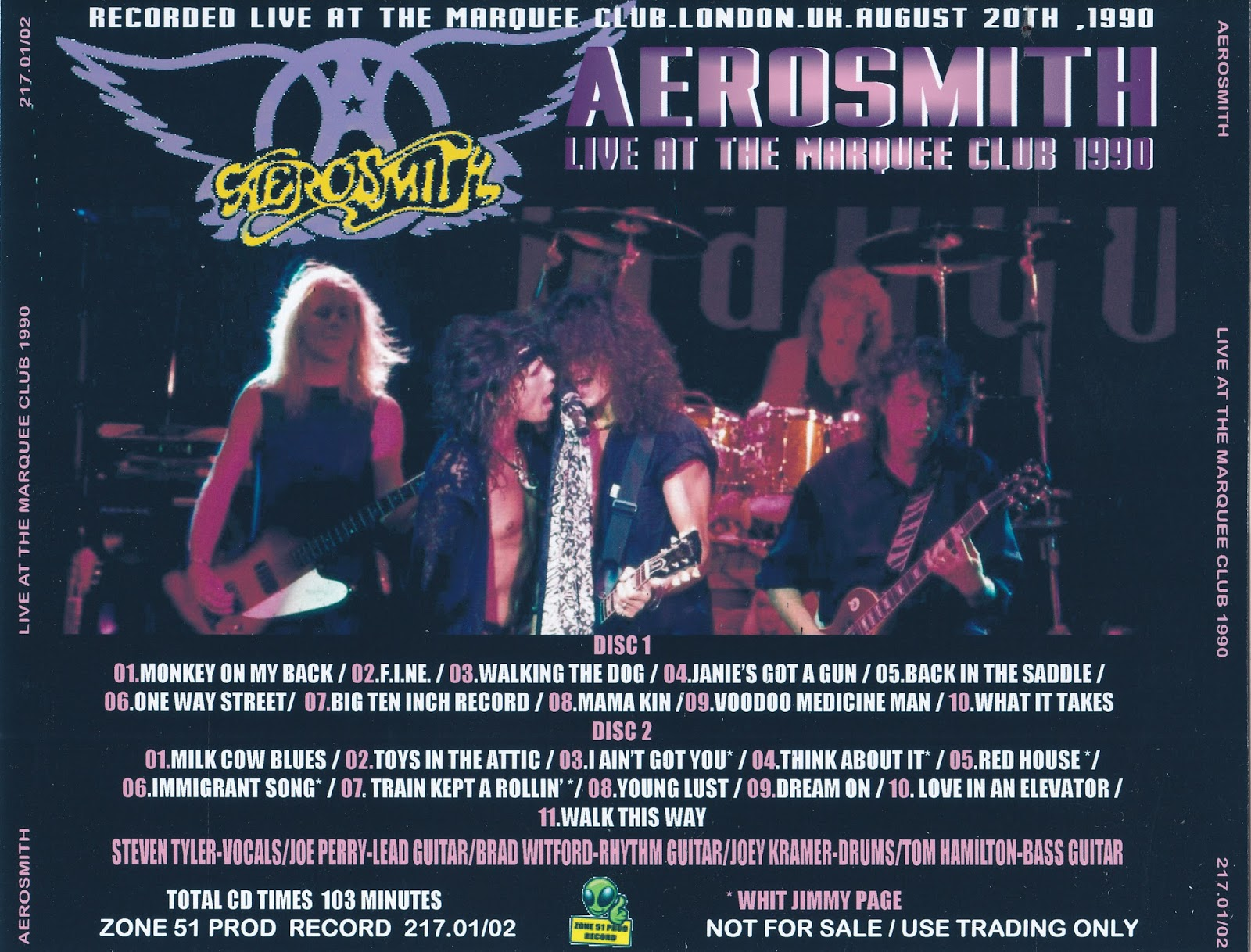 Aerosmith bootlegs cover arts live at the marquee club for Zona 5 mobilia no club download