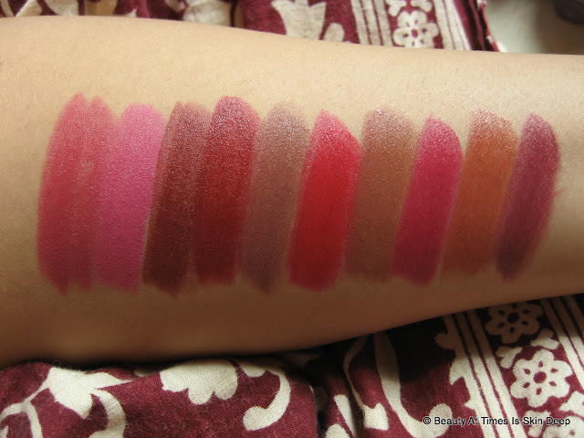 Oriflame the ONE Matte Lipsticks Swatches