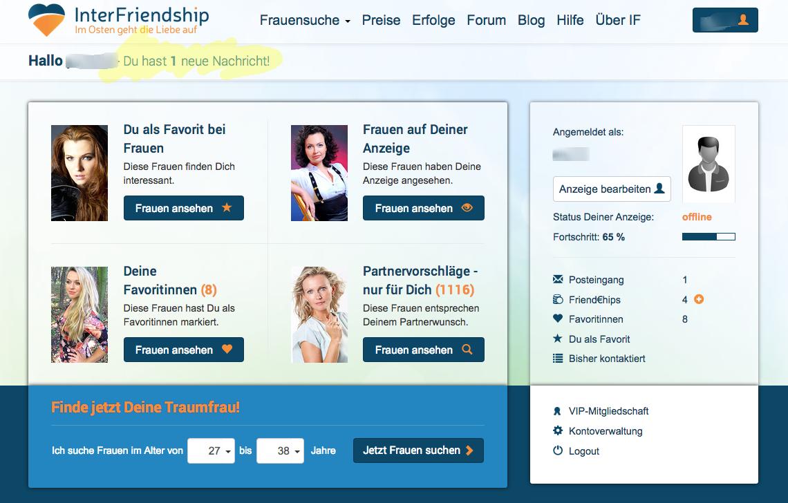 Interfriendship, die Nummer 1 der Partnerbösen für Frauen aus dem Osten