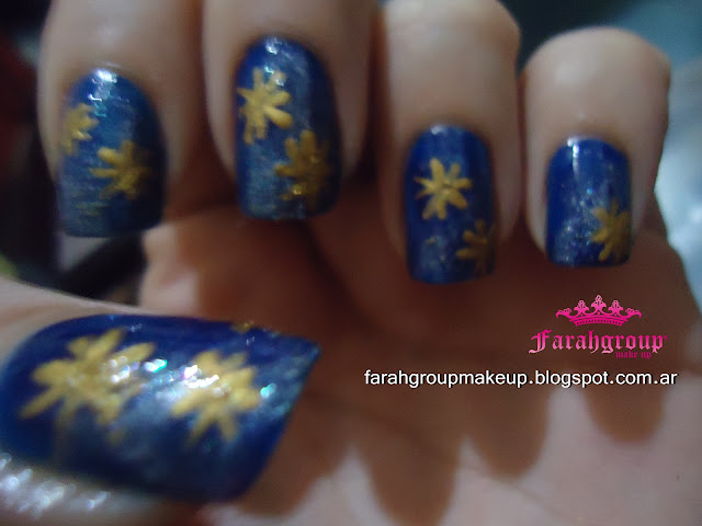 Uñas Galaxia azules