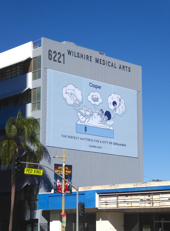 Casper Perfect mattress city of dreamers billboard