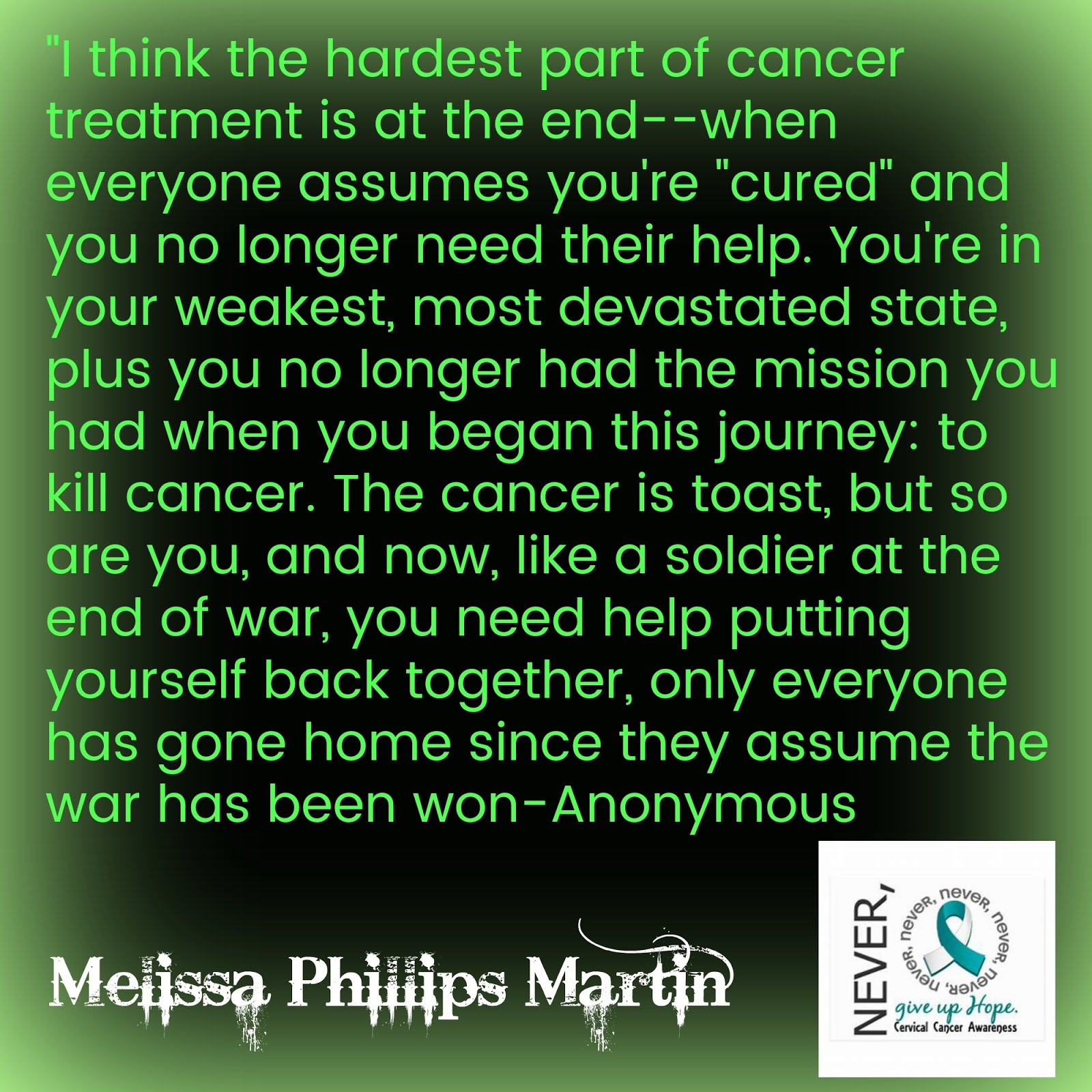 My Cancer Journey ~ Click Picture