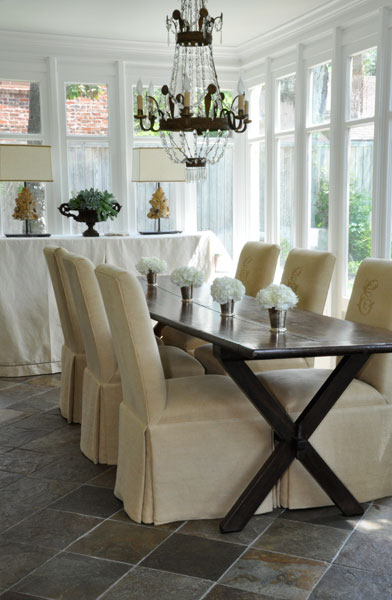 Dining room, design and image by Luxe Living Interiors, as seen on linenandlavender.net
