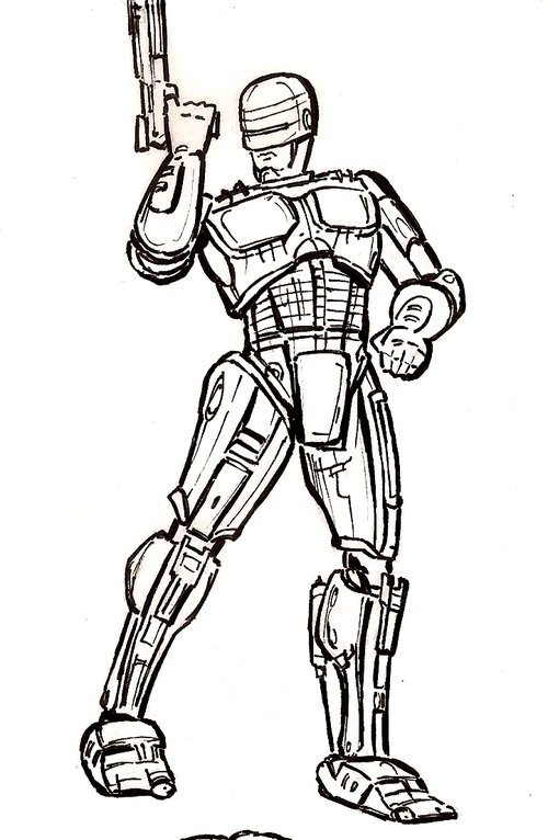robocop coloring pages - photo#1
