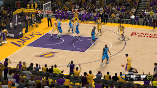 NBA 2K13 New Los Angeles Lakers Court Mods