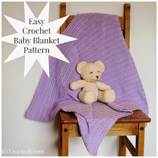 free Easy baby blanket crochet pattern how to crochet
