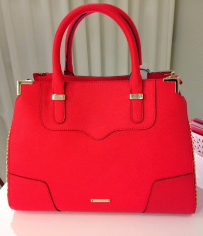 Rebecca Minkoff Red Amorous Saffiano Satchel Handbag Lucky Fabb West 2014