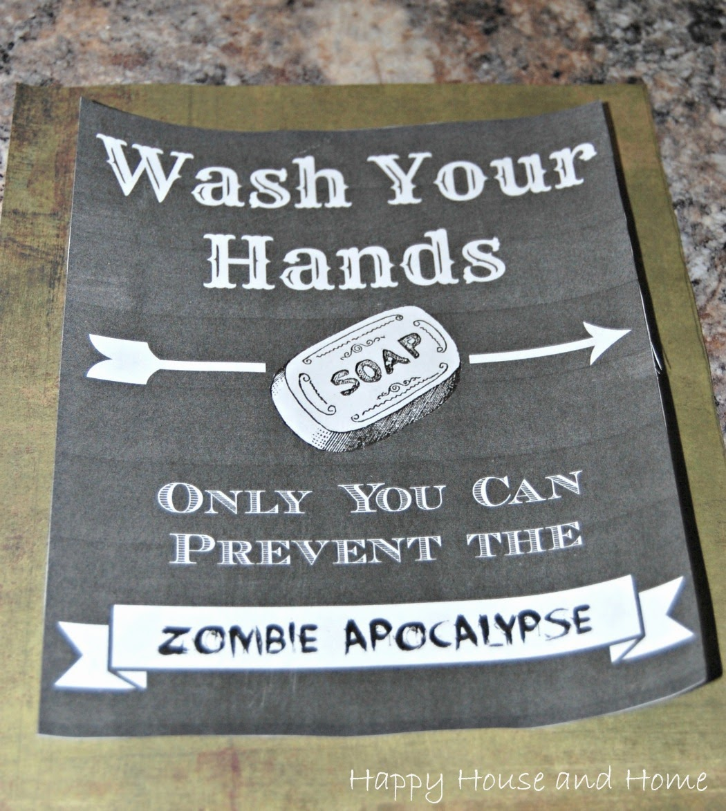 DIY sign, wash your hands sign, bathroom sign