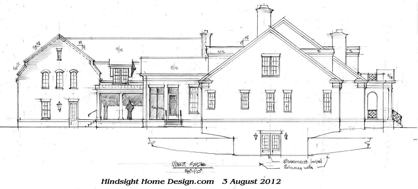 Hindsight home design for Parapet house plans