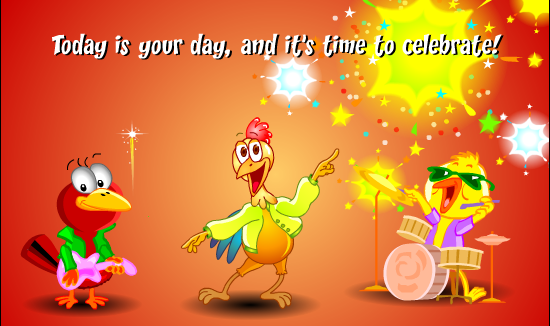 animované přání k narozeninám - on-line