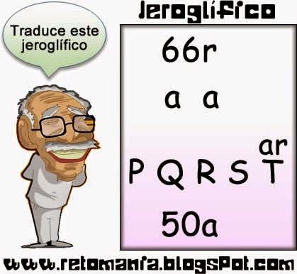 Jeroglíficos, Retos matemáticos, Desafíos matemáticos, Problemas matemáticos, problemas para pensar