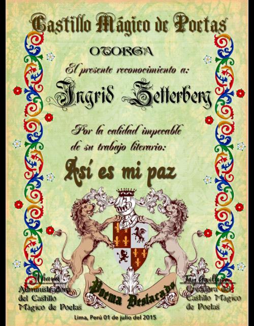 Poema destacado en Castillo mágico de poetas
