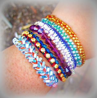 image arm candy bracelets friendship beaded hex nuts braided