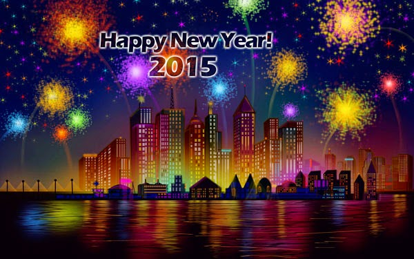 Fireworks Of Happy New Year 2015