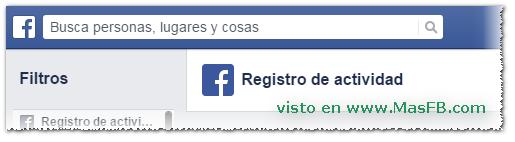 Registro de Actividad en Facebook - MasFB