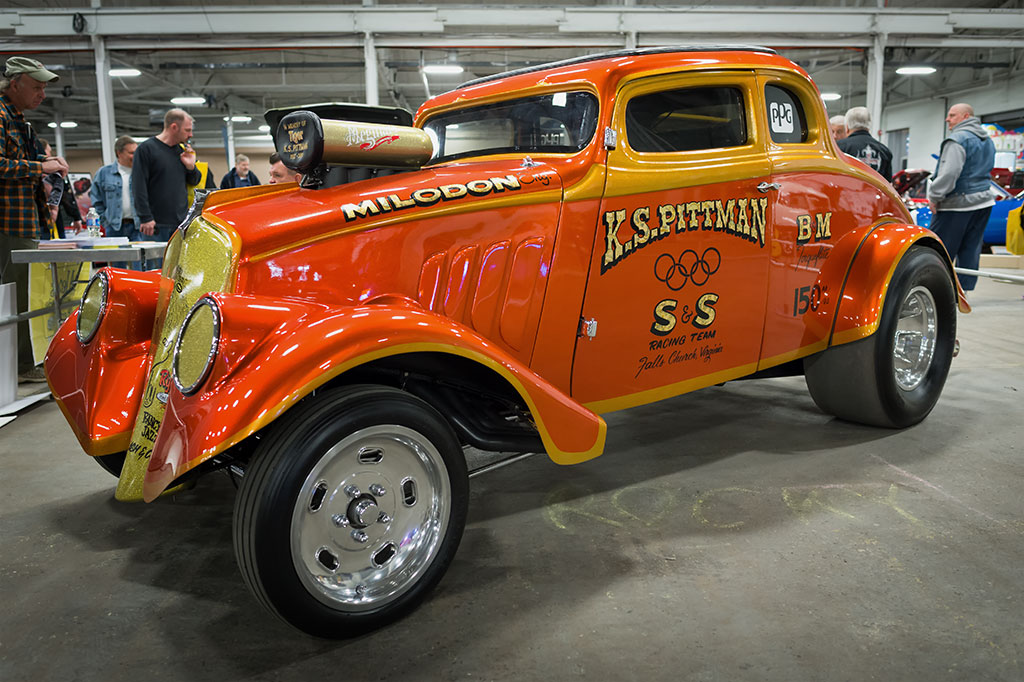 Rocky Pirrone and Bill Ellershaw's 1933 Willys AA/GS coupe