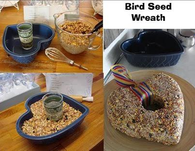 In en om die huis bird seed wreath recipe for Bird seed glue recipe