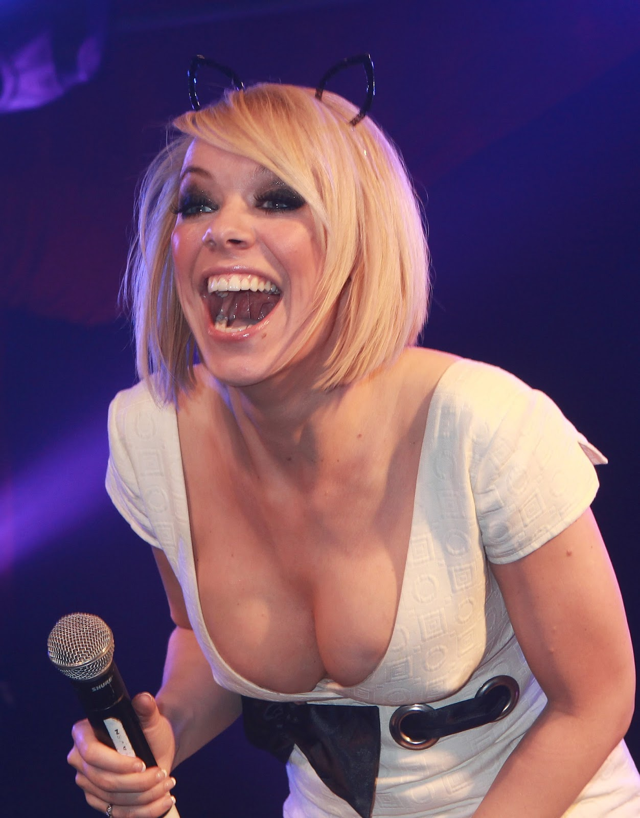 Liz Mcclarnon Cleavy Leggy And Upskirt At Atomic Kitten