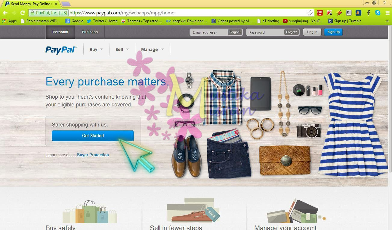 how to get paypal link on website