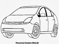 Mewarnai Gambar Mobil Toyota Prius
