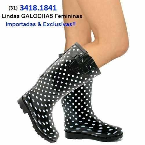 0911be9c555 31) 3418.1841 - GALOCHAS Femininas ONLINE e CAPAS de CHUVA Coloridas ...