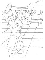 Mewarnai Gambar Pangeran Zuko Waktu Sedang Mengintai Avatar Aang